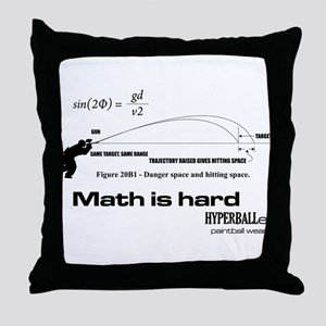 Math Is Hard Throw Pillow