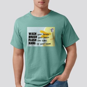 Bathroom Rules for Kids Mens Comfort Colors Shirt