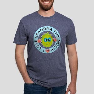 Love Grandma This Much Mens Tri-blend T-Shirt