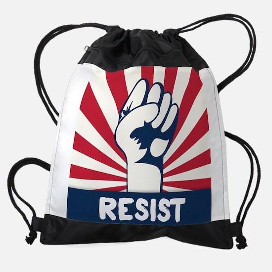 RESIST Fist Drawstring Bag