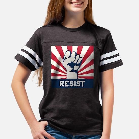 RESIST Fist Youth Football Shirt