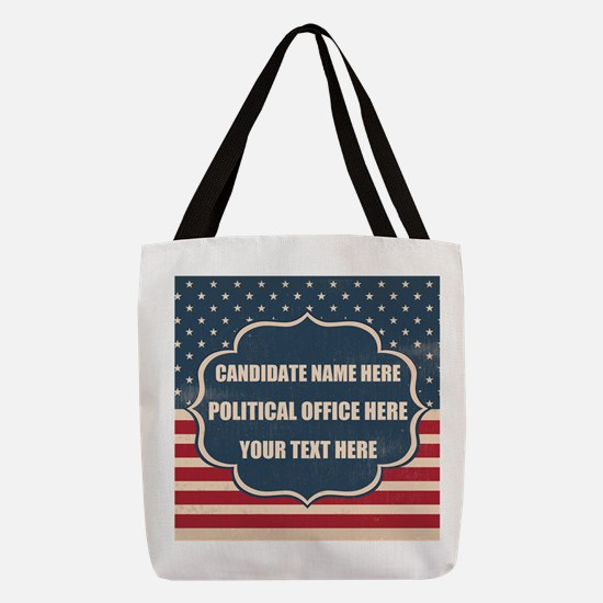 Personalized USA President Polyester Tote Bag