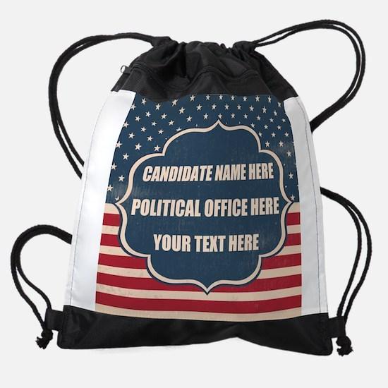 Personalized USA President Drawstring Bag