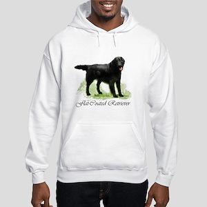 Flat Coated Retriever Hooded Sweatshirt