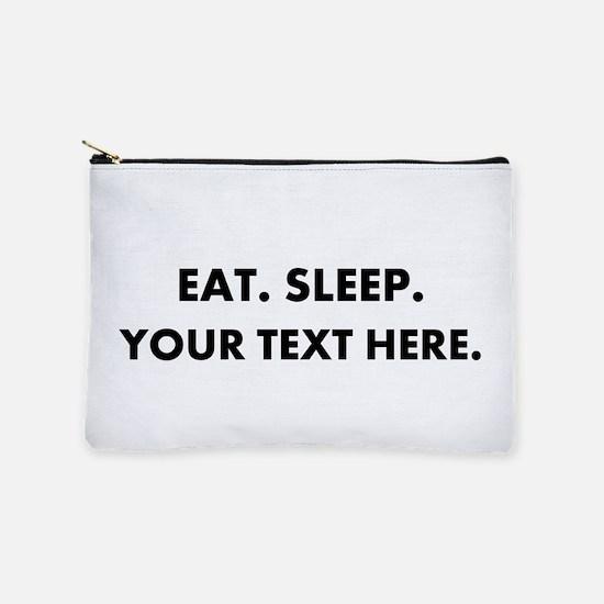 Personalized Eat Sleep Makeup Bag