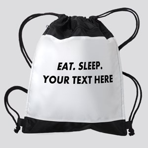 Personalized Eat Sleep Drawstring Bag
