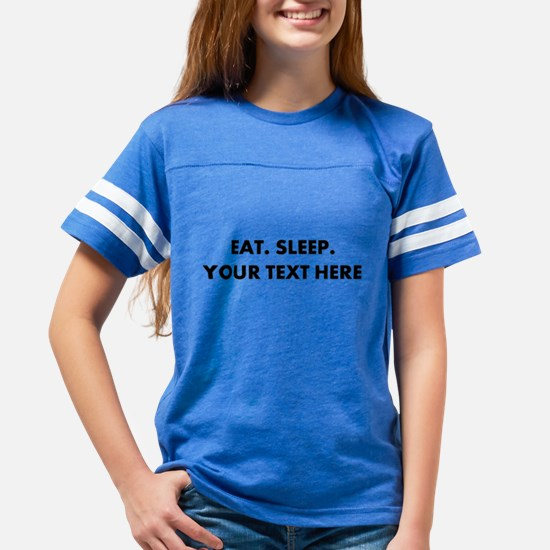 Personalized Eat Sleep Youth Football Shirt