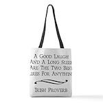 Irish Proverb Polyester Tote Bag