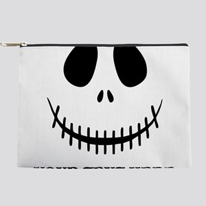 Custom Halloween Skeleton Makeup Pouch