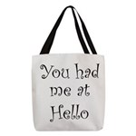 FIN-you had me.png Polyester Tote Bag