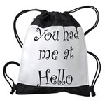 FIN-you had me.png Drawstring Bag