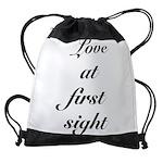 FIN-love at first.png Drawstring Bag