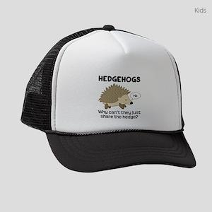 Hedgehog Pun Kids Trucker hat