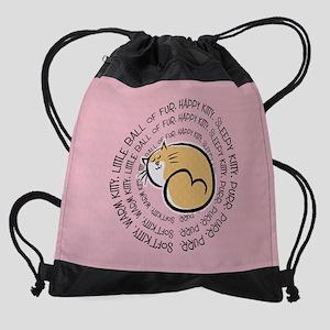 Sing Soft Kitty Drawstring Bag