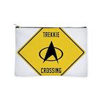 Trekkie Crossing Sign Makeup Pouch
