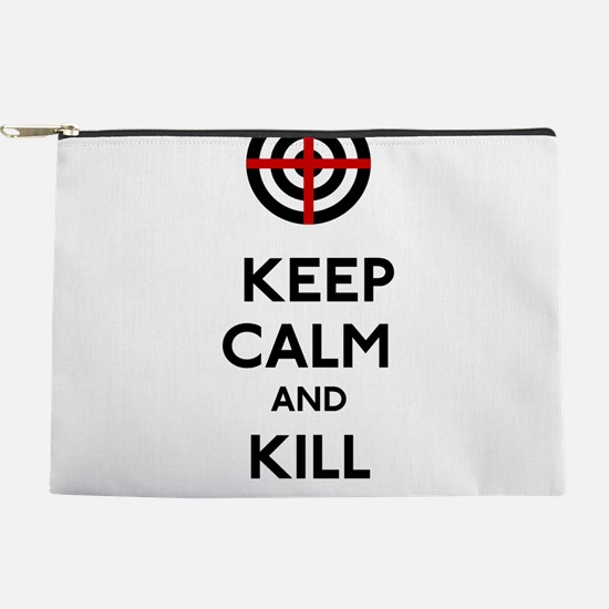 Keep Calm and Kill Zombies Makeup Pouch