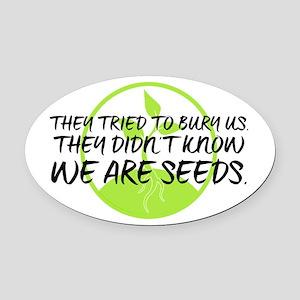 Seeds Oval Car Magnet