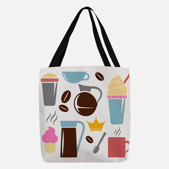 Coffee Time Polyester Tote Bag