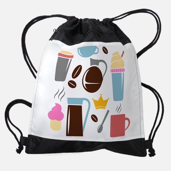Coffee Time Drawstring Bag