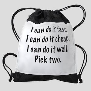 Pick Two Drawstring Bag