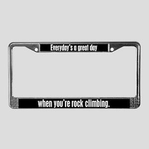Rock Climbing License Plate Frame