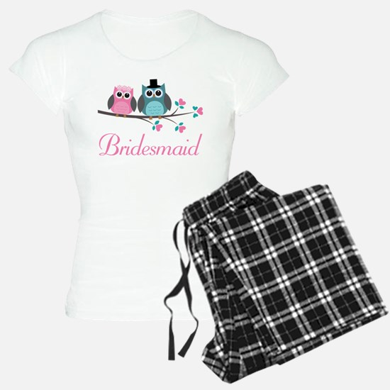Bridesmaid Wedding Owls Pajamas