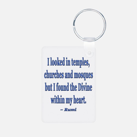 Divine within my heart - Rumi Quote Keychains