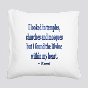 Divine within my heart - Rumi Quote Square Canvas
