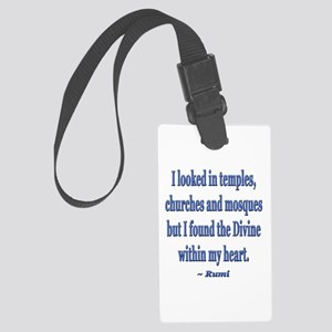 Divine within my heart - Rumi Quote Luggage Tag