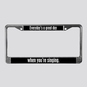 Singing License Plate Frame