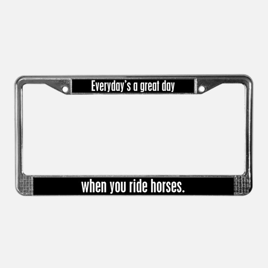 Riding Horses License Plate Frame