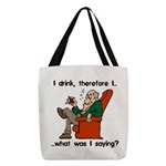 I Drink Therefore I Am Polyester Tote Bag