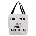 FIN-like-you-mine-real Polyester Tote Bag