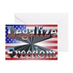 Legalize Freedom Pk of 10 Greeting Cards