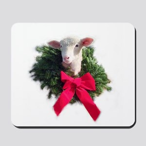 Christmas Lamb Mousepad