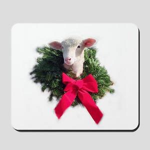 Christmas Lamb Mousepad