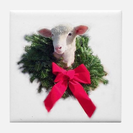 Ewephoric Christmas Wreath Coaster