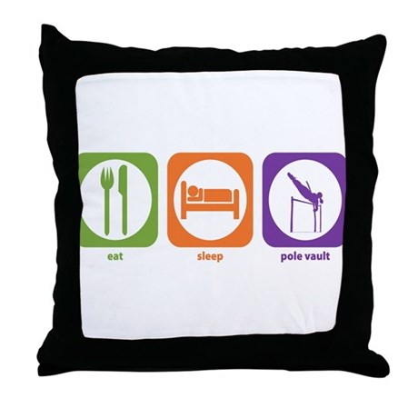 Eat Sleep Pole Vault Throw Pillow