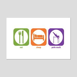 Eat Sleep Pole Vault Mini Poster Print