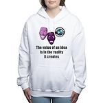 Value of an Idea Women's Hooded Sweatshirt