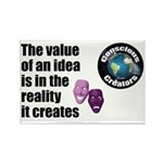 Value of an Idea Rectangle Magnet (100 pack)