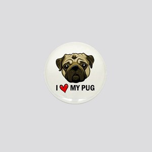 I Heart My Pug Mini Button