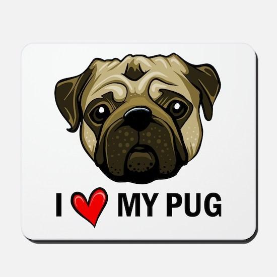 I Heart My Pug Mousepad