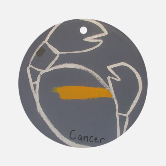 Cancer Ornament (Round)