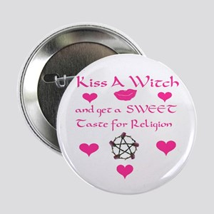 Kiss A Witch Button