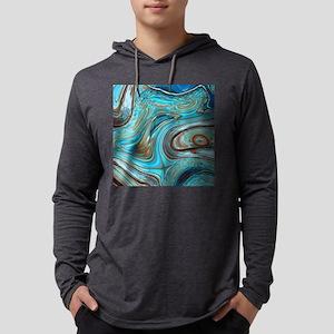 rustic turquoise swirls Mens Hooded Shirt