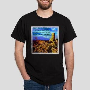 Watch Tower Red Moon on the Horizon Dark T-Shirt
