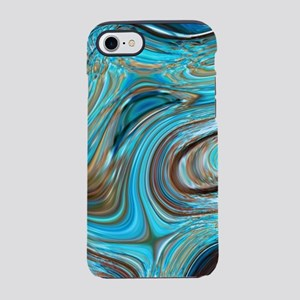 rustic turquoise swirls iPhone 7 Tough Case