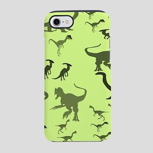 Green Dinosaurs iPhone 7 Tough Case