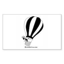 Kokopelli Hot Air Balloonist Rectangle Sticker